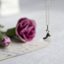 Silver Warm Heart Necklace