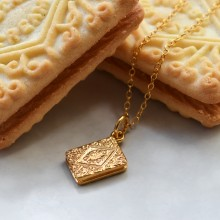 Gold Custard Cream Charm Necklace