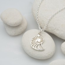 Silver Nautilus Shell Necklace