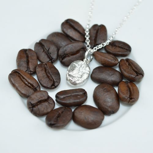 Silver Coffee Bean Necklace