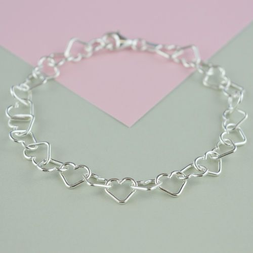 Childrens Silver Heart Bracelet