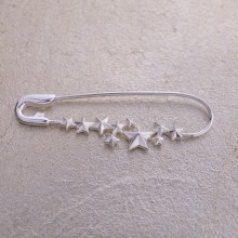 Silver Star Cluster Pin