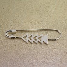 Silver Triangles Pin