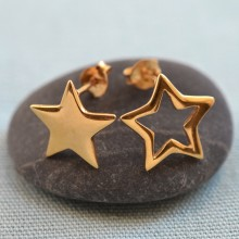 Gold Star Stud Earrings (Mismatched)