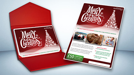 Red Letter Days Merry Christmas Gift Card (£50)