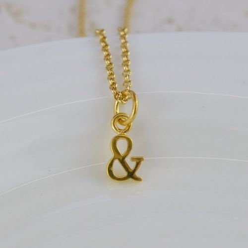 Gold & charm necklace