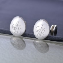Personalised Silver Cufflinks with Monogram
