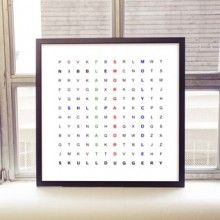 Personalised Word Search Print (Framed in a Black Frame)