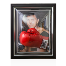 Framed Muhammad Ali Hand Signed Boxing Glove: The Greatest