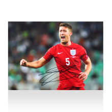 Gary Cahill Signed England Photo
