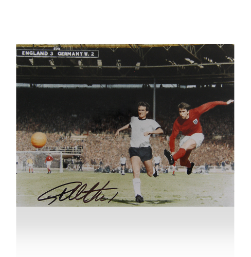 Sir Geoff Hurst Signed Photo: 1966 World Cup Final Goal