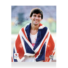 Lord Sebastian Coe Signed Photo: Union Jack
