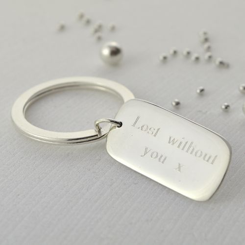 Engraved Tag Key Ring