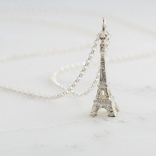 Personalised Silver Eiffel Tower Necklace