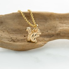 Personalised Gold Squirrel Necklace