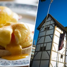 Tour and Exhibition of Shakespeare's Globe and Breakfast for Two