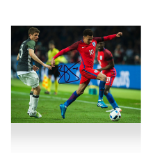 Dele Alli Signed England Photo: Victory in Berlin