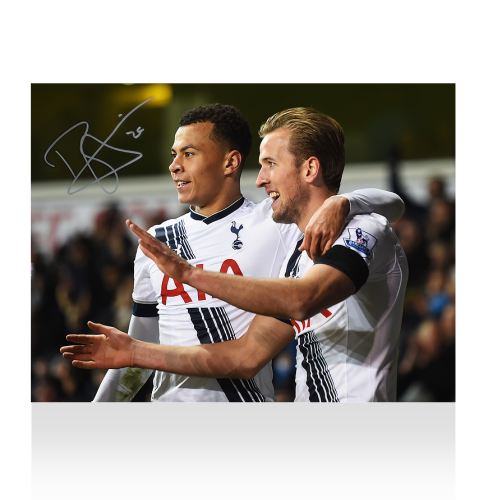 Dele Alli Signed Tottenham Hotpsur Photo: Celebrating With Harry Kane