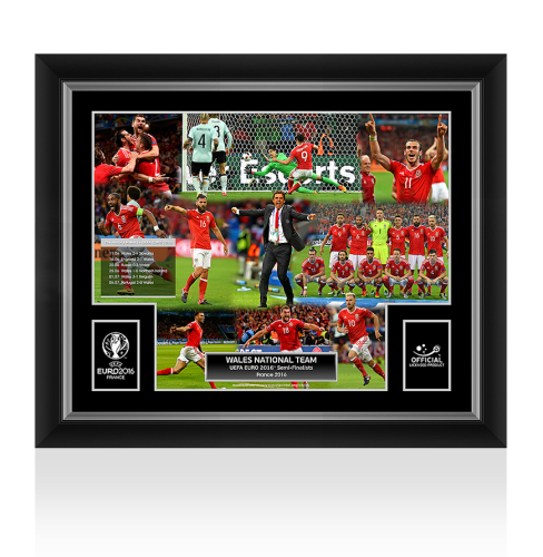 Wales Official UEFA EURO 2016 Framed Winners Montage: The History Makers