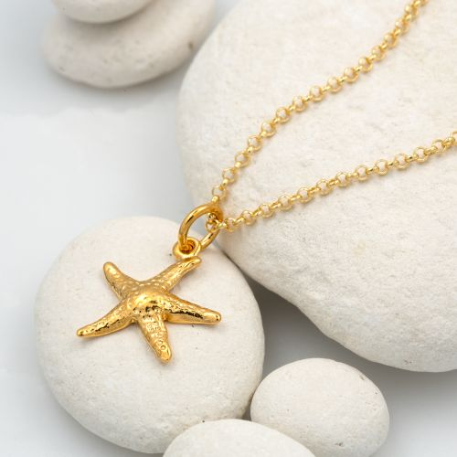 Personalised Gold Starfish Necklace