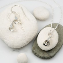 Silver Lily Jewellery Set With Hook Earrings