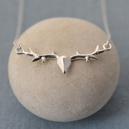 Personalised Silver Stag Necklace