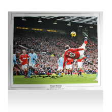 Wayne Rooney  Signed Manchester United Photo: Overhead Kick Celebration