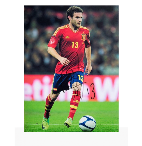 Juan Mata Signed Spain Photo: Portrait Of A Maestro