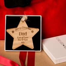 Personalised Wooden Christmas Star Daddy