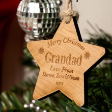 Bespoke Wooden Christmas Star: Papa