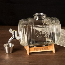 Novelty Barrel Drinks Dispenser with Personalised Stand