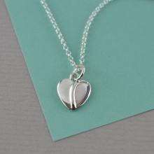 Silver Precious Heart Necklace